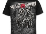 Reaper Montage – Sons Of Anarchy – Black T-Shirt