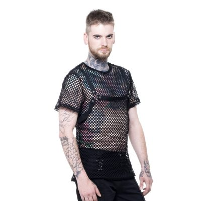 men's fishnet shirt
