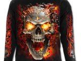 Skull Blast Men's Black Long Sleeve T-Shirt