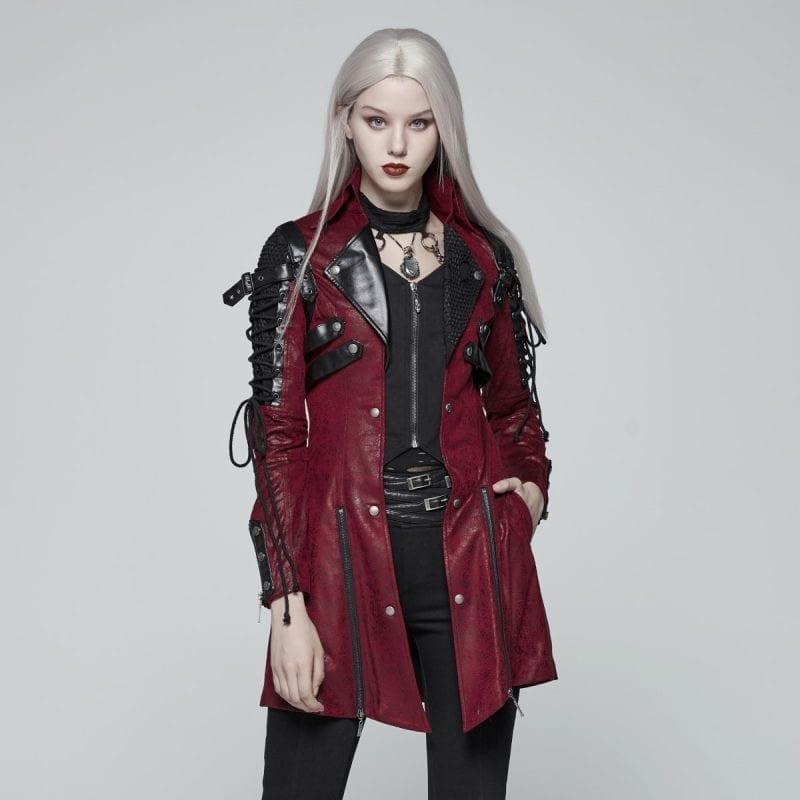 Punk Rave Gothic Army Jacket