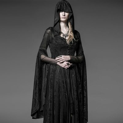 Sorceress Gothic Hooded Dress