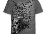 Bat Skull Men's Charcoal Grey T-Shirt