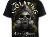 Self Isolation Men's Black Print Reaper T-Shirt