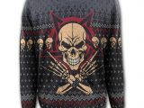 Evil Rock Knitted Wrap Skull Jumper/Sweater