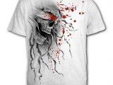 Blind Faith Men's White Skull T-Shirt