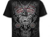 Spirit Board Men's Black Skull T-Shirt