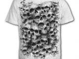 Twisted Skulls Men's White T-Shirt