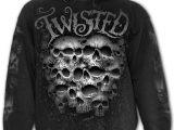 Twisted Skulls Men's Black Hoodie