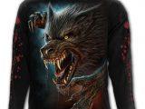 Wild Moon Men's Black Wolf T-Shirt