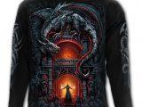 Dragon's Lair Men's Black Long Sleeve T-Shirt