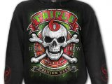 Triple 6 Men's Black Skull Hoodie