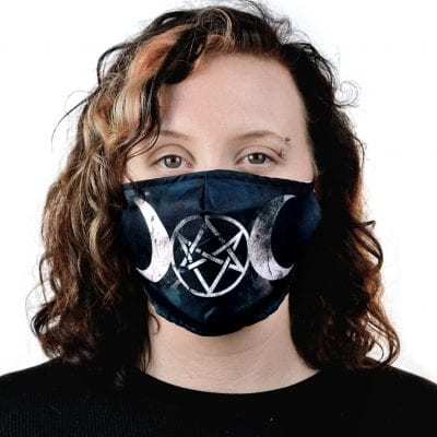 Moon Pentagram Face Mask