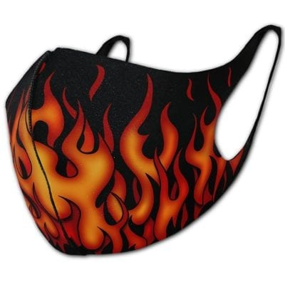 Tribal Flames Face Mask