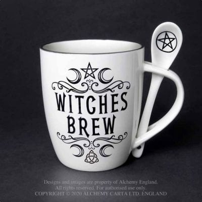 Alchemy Gothic Witches Brew Mug Gift Set