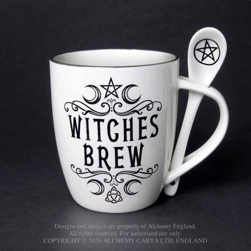 Alchemy Gothic Witches Brew Mug Gift Set